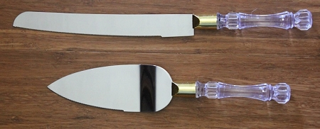 ESZK002 wedding knife/server set GOLD
