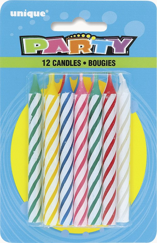 Rainbow Spiral Candles