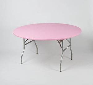 Pink Round Table.Pink 60 Inch Round Kwik Cover