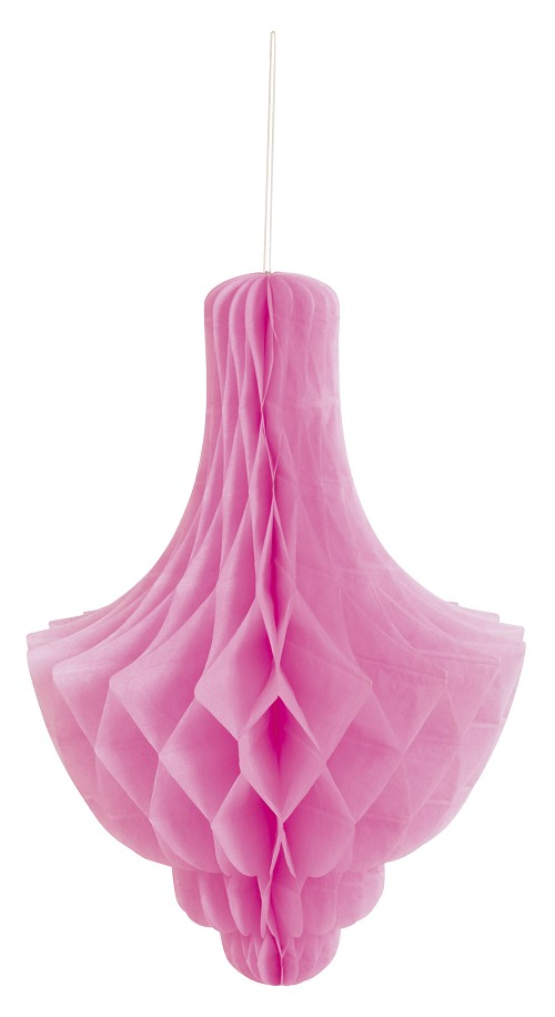 HOT PINK Tissue chandelier