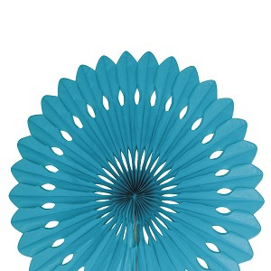 16 inch tissue paper fan TEAL UI63193