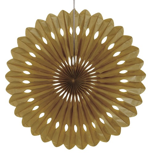 GOLD 16 inch tissue paper fan