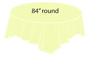 84 Plastic Round Tablecover Ivory