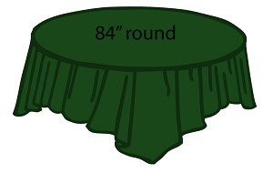 "84"" plastic round tablecover HUNTER GREEN"
