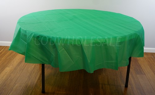 EMERALD 84 inch round plastic tablecover