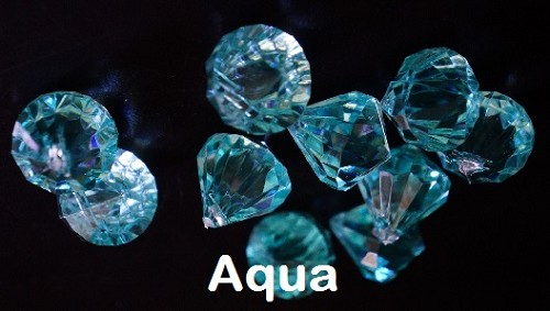 Acrylic diamonds AQUA