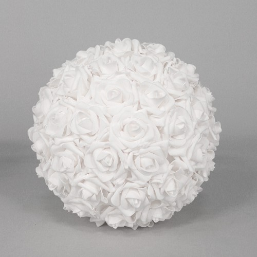 Foam Rose Flower Ball IVORY