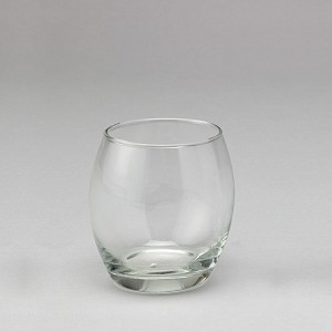 4 INCH Roly Poly Clear Glass Votive Holder (6 COUNT)