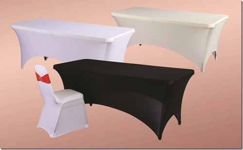 6FT Spandex fitted tablecloths