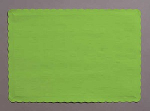 Paper place mat LIME GREEN 863123B