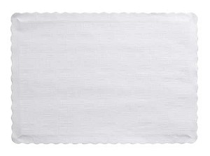 Paper place mat WHITE 863272B