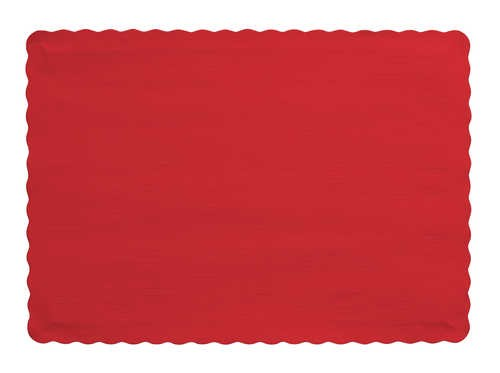 RED Paper place mat
