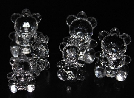 Acrylic teddy bears CLEAR