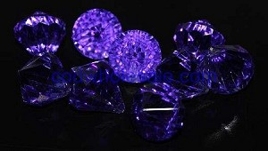 Acrylic diamonds PURPLE