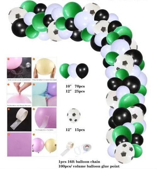 Soccer balloon garland
