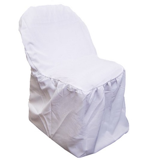 Folding chair cover WHITE