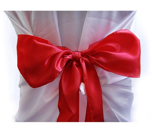 RED satin chair bows (6pcs/bag)
