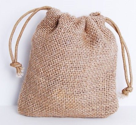 4.5inch x 5.5inch Burlap favor gift bags