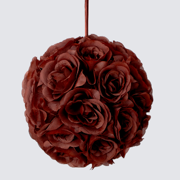 BROWN Silk pomander flower ball