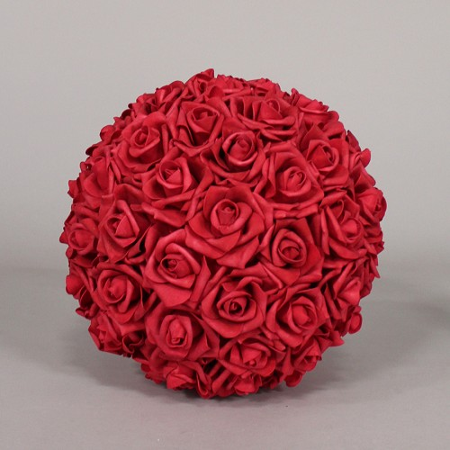 Foam Rose Flower Ball RED