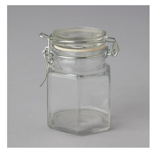 Glass Jar with Hinged Lid (12pcs)