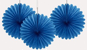 ROYAL 6 inch tissue paper fan (3ct)