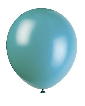 12 inch latex balloons AQUAMARINE