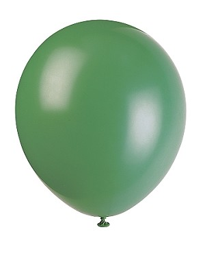 "5"" latex balloons FOREST/EMERALD"