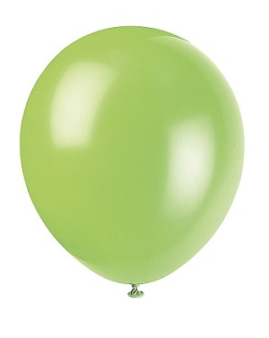 "5"" latex balloons LIME"