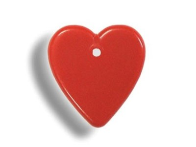Plastic balloon weight 8 gram RED HEARTS (100 pieces)