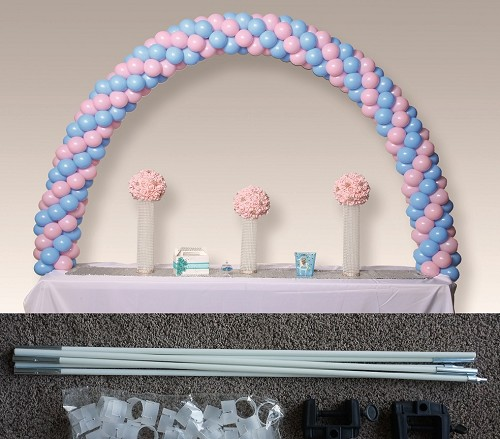 8 foot by 5 foot tabletop balloon arch