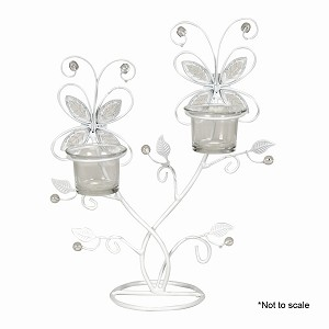 Wire butterfly tealight holder