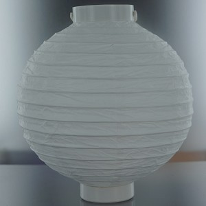 "8"" lighted paper lantern WHITE"