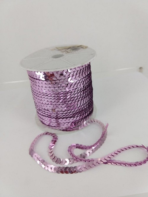 PINK Sequin roll 100 yards