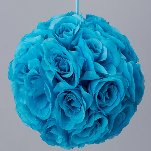 TURQUOISE Silk pomander flower ball