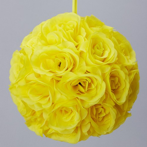 YELLOW Silk pomander flower ball