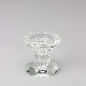 2.5 inch Prism Crystal Candle Holder Stand (Set of 2) 740069