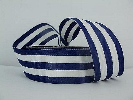 Striped grosgrain NAVY