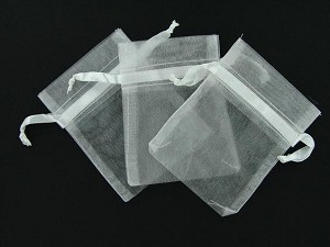 "3""x4"" organza bag WHITE 144 pieces"
