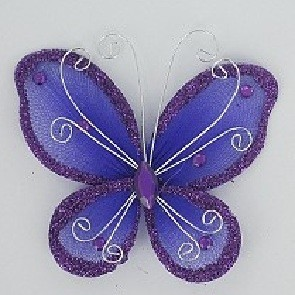 Organza butterfly PURPLE