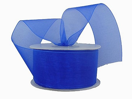 Monofilament organza ribbon ROYAL BLUE