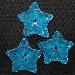 Wired organza stars TURQUOISE