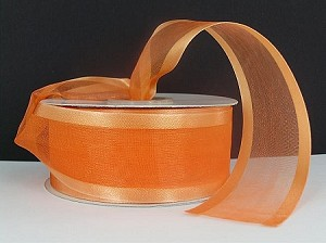 Satin edge organza ORANGE  3/8""