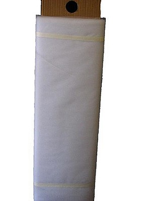 "Nylon tulle 108"" x 50 yds WHITE"