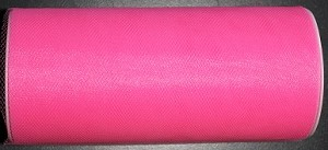 "Nylon tulle 6"" x 25 yards HOT PINK"