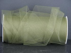 "Nylon tulle 6"" x 100 yds OLD WILLOW"