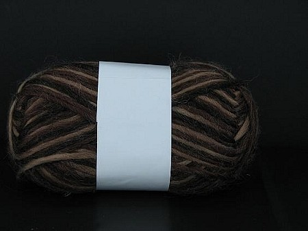 Yarn 9537 VARIEGATED BROWN: 80% acrylic  20% wool