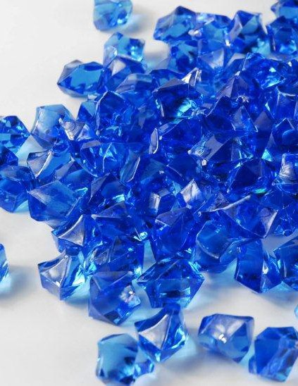 Acrylic rocks/stones ROYAL BLUE