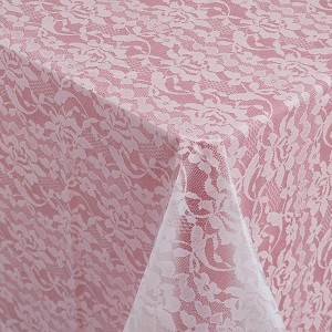 "013062 white lace tableroll 40""x100'"