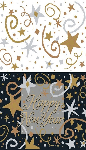 "Happy New Years table cloth 54""x84"" UI15353"